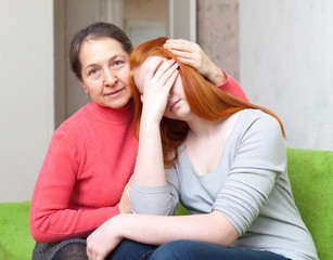 Mother gives solace to sadness daughter