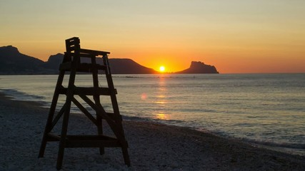 Sunrise on the scenic Mediterranean resort Altea