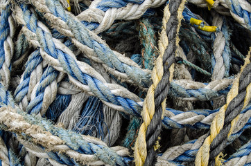 Rope bundle close up