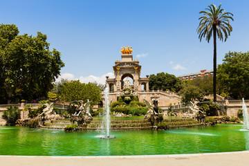 Cascada fountain in Barcelona. Catalonia