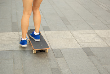 skateboarding in the city