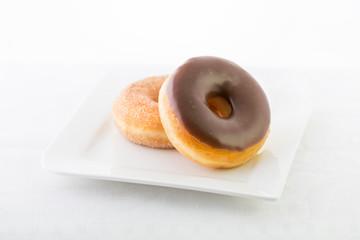 Donuts with chocolate glaze