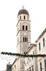 Bell Tower and Sponza's palace in Dubrovnik