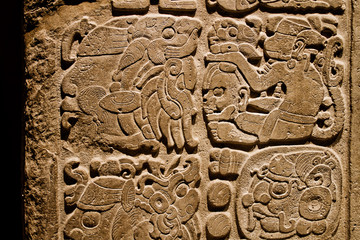 Indian carvings on a wall