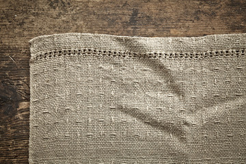 old gray linen napkin
