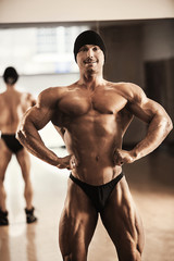 Strong male bodybuilder