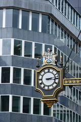 Street clock in city of london