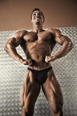 Portrait of attractive male bodybuilder