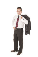 young confident businessman posing