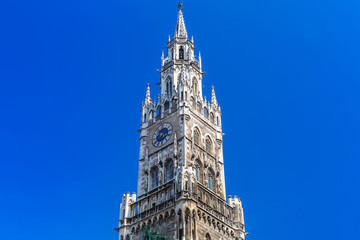 The New Town Hall architecture in Munich, Germany
