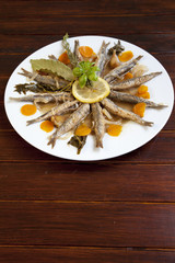 Tasty Marinated sardines with Mediterranean herbs
