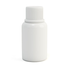 Blank medicine bottle isolated on white