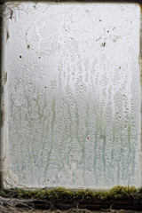 rain on glass window