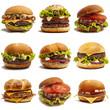 Set of burgers