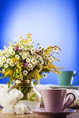 Tea and wildflowers