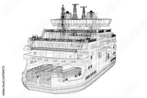 Leinwanddruck Bild ferryboat
