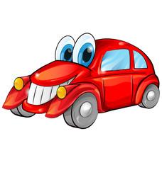 happy car cartoon