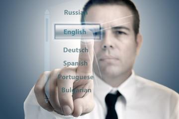 languages menu