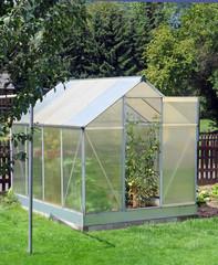 Treibhaus im Garten