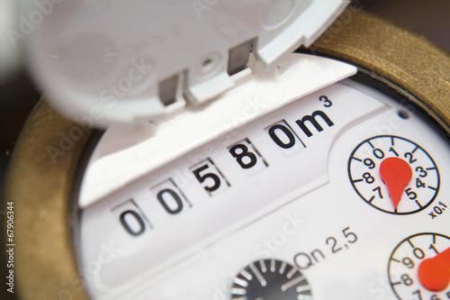Leinwanddruck Bild Wasserzähler