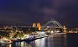 Sydney Circular Bridge sunset