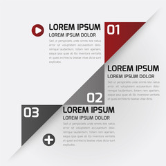 Modern Design template, infographics, numbered, chart