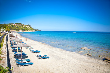 Loutra sand beach, Halkidiki,  Greece.