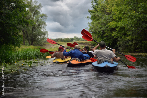 river, Sula, 2014 Ukraine, june14 ; river rafting kayaking edito - 67907316