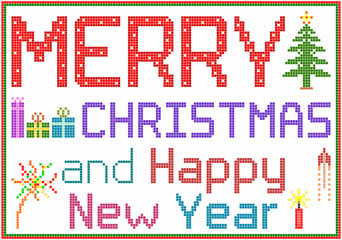 Merry Christmas in Pixels