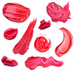 Smears lipstick and lip gloss variety of shapes - 67908195
