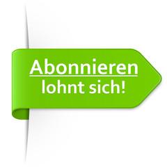 Langer hellgrüner Sticker Pfeil – Abonnieren lohnt sich!