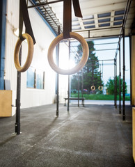 Gymnastic Rings At Gym