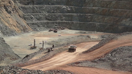 Industrial Mining Ore Pit Timelapse