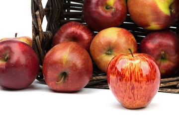 Positive, juicy apple