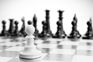 Single pawn against many enemies