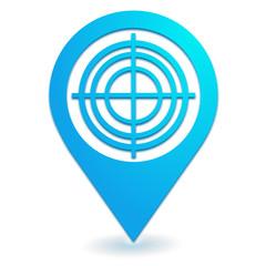 diagnostic sur symbole localisation bleu