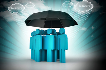 business people under an umbrella