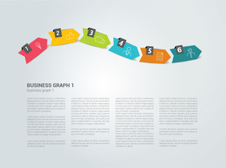 Timeline template. Text page. Vector background.