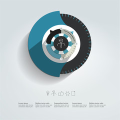 Round infographic template. Vector business concept.