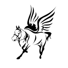 horse-with-wings-black-and-white-horse-logo-symbol-vector