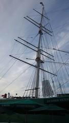 Segelschiff-Mast