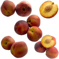 Mature sweet peaches.