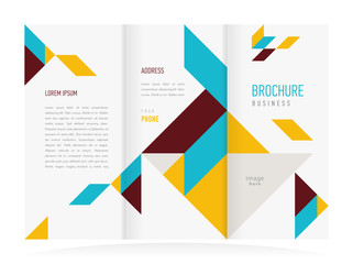 colored brochure design template