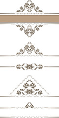 Ornamental borders for decor isolated on the white