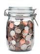 Mason Jar of Coins