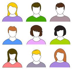 Menschen Icons Set bunt