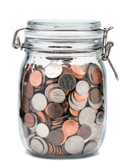 Mason Jar of Coins