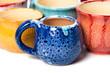 Leinwanddruck Bild - ceramic pots in glaze