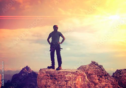 standing on higher ground