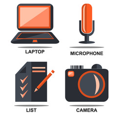 Flat isolated icons set